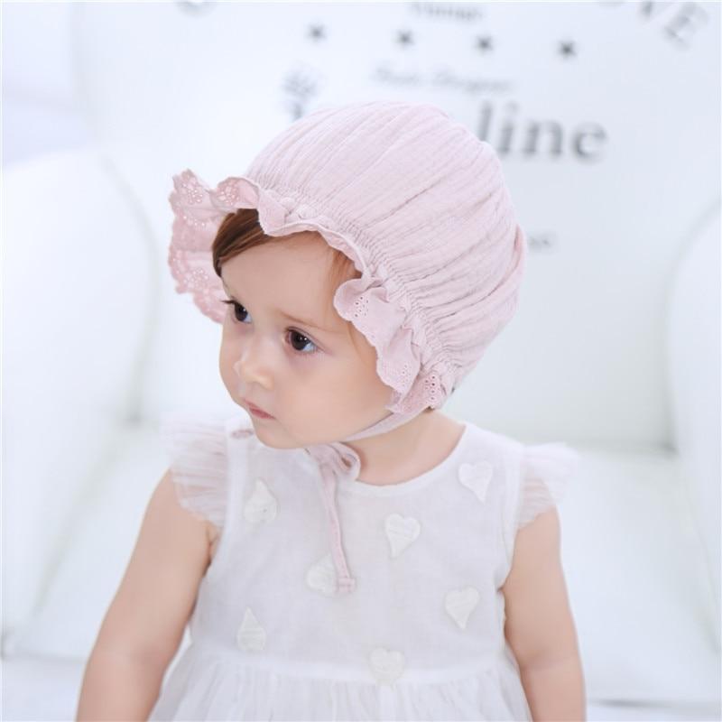 Új tavaszi és nyári gyerek sapka Baba pamut hercegnő kalap Száz nap ... e88ed68551
