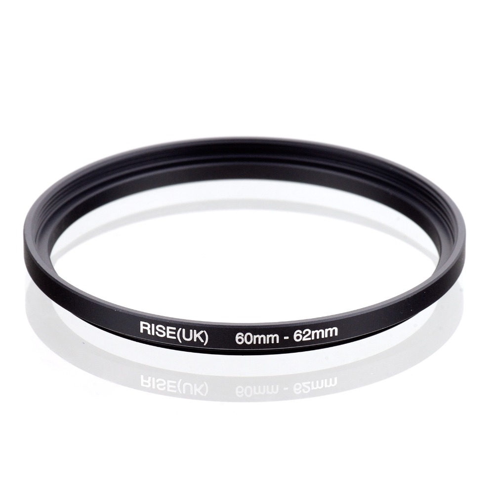 original RISE(UK) 60mm-62mm 60-62mm 60 to 62 Step Up Ring Filter Adapter black free shipping