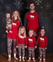 2017 New Family Christmas Moose Pajamas Hot Sale High Quality Cotton Christmas Pajamas Family Look Nightwear Clothing Sets