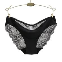 Ladies Underwear Woman Panties Sexy Lace Plus Size Panty Transparent Low-Rise Cotton Briefs Intimates New Hot Sale(China)
