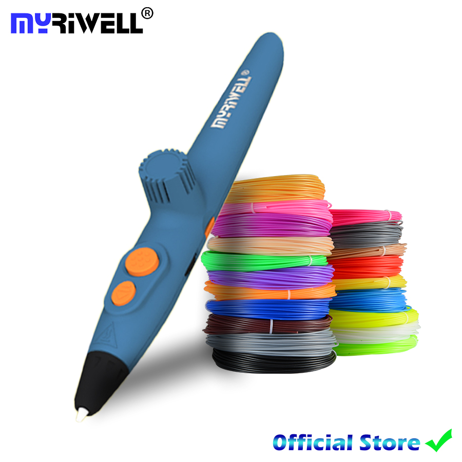Myriwell RP-200A DIY 3D Pen,USB Charging 3D Printing Pen,1.75mm PCL Free Filament Creative Toy Gift For Kids Design