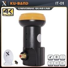 X Square العالمي LNB لاستقبال الأقمار الصناعية HD الرقمية دعم 4K Ku الفرقة LNB الضوضاء الشكل 0.1dB واحد LNBF مقاوم للماء LNB
