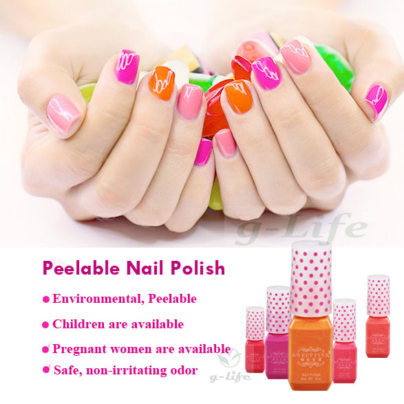 5 Bottles Nail Polish 20 Colors Optional Fast Drying Lacquer Varnish