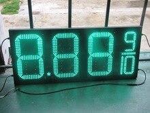 Открытый водонепроницаемый 10 «8.889 Зеленый СВЕТОДИОД цена на газ цифровых знаков для Азс