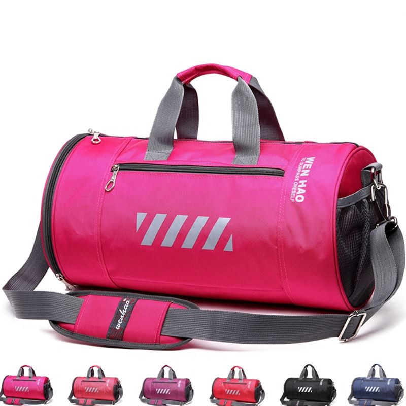 Bild av New Women Waterproof Nylon Sport Bags Men Gym Bag Yoga Fitness Training sac de sport Travel Shoulder Handbags