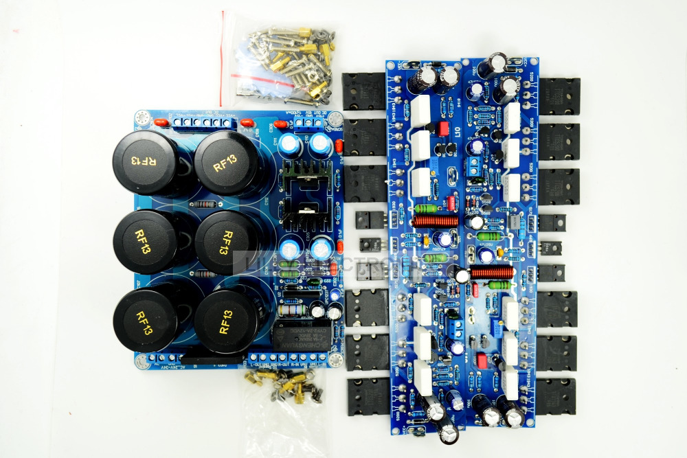 50W*2 Assembled Stereo L10 amplifier +protection Power supply board DC +-50V assembled tas5630 2 1 digital amplifier board 300w 150w 150w