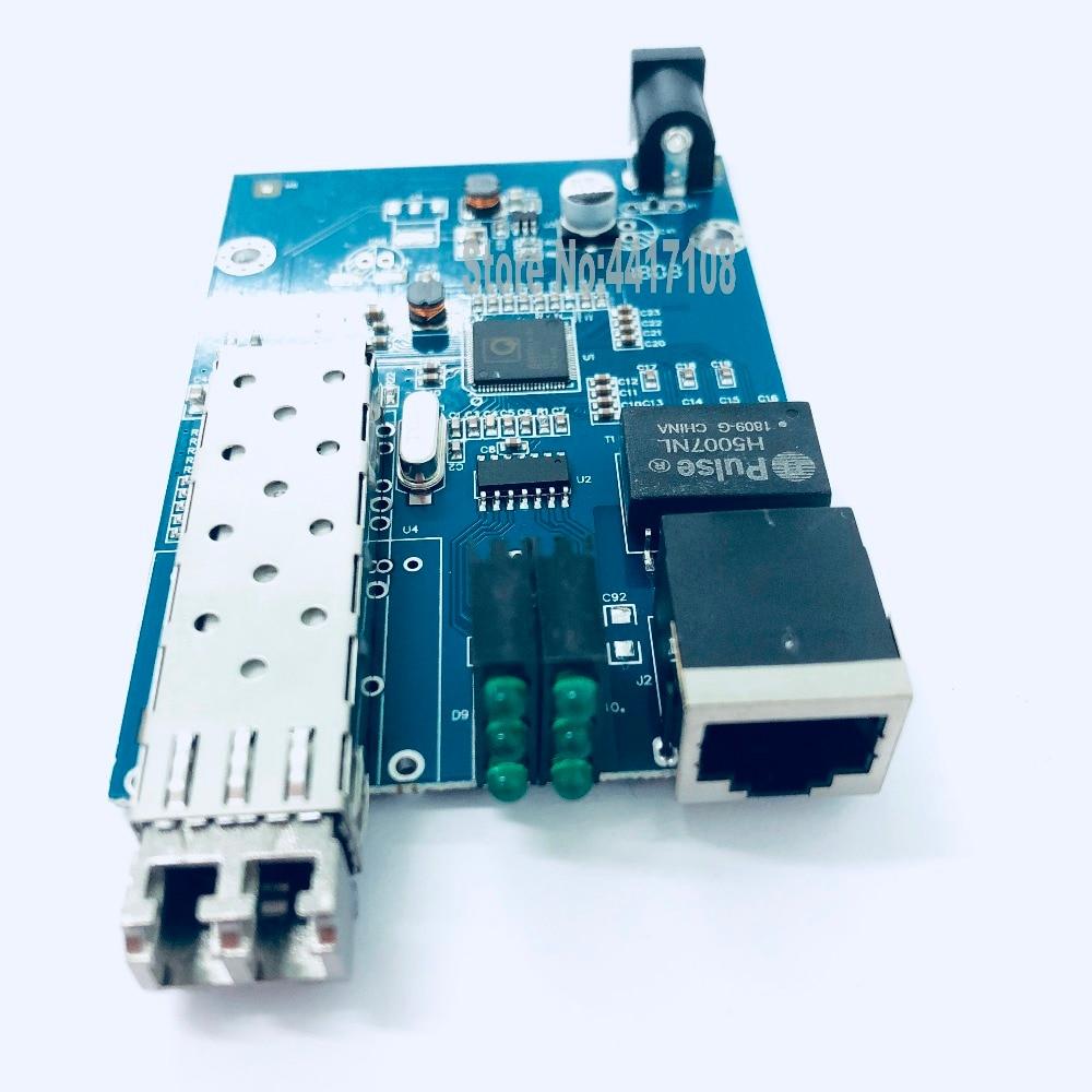 10PCS SFP Fiber to RJ45 converter gigabit SFP  media converter 1000Mbps SFP Gigabit Fiber Optical Converter Board with adapter-in Fiber Optic Equipments from Cellphones & Telecommunications    3