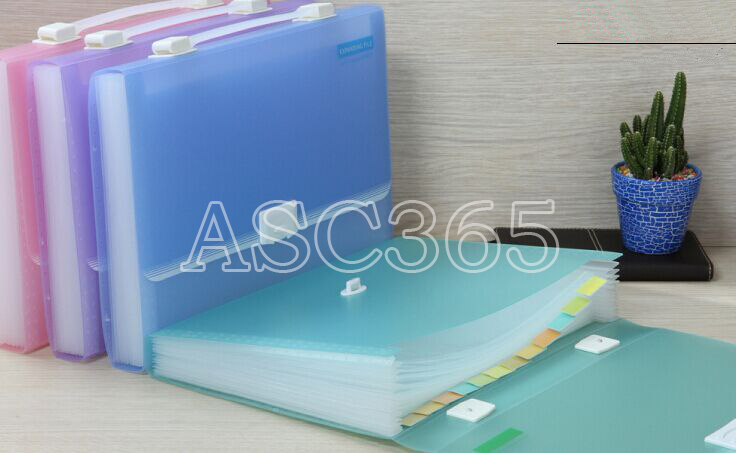 Plastic Briefcase Expanding A4 Folder Insert Multilayer