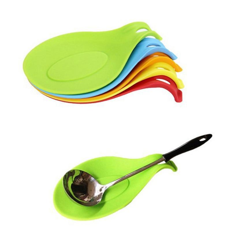 Home Spoon Mat Kitchen Accessories Non Slip Heat Resistant Soft Silicone Coaster