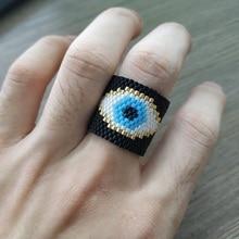 Go2boho Evil Eye Rings MIYUKI Ring Men Women 2019 Jewelry Summer Anillos Turkish Mujer Handmade Loom Gift
