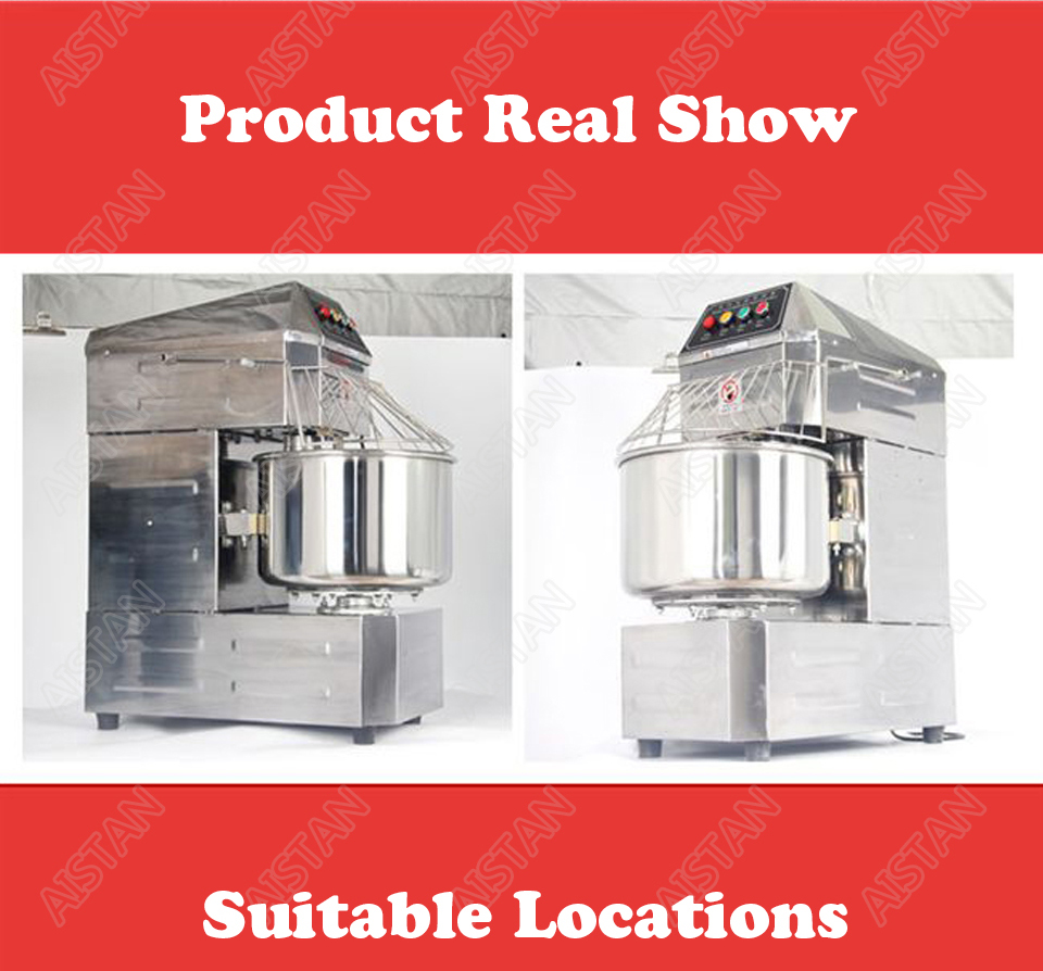 SSD20 20L/30L electric commercial 2-speed spiral dough mixer food mixer machine 11