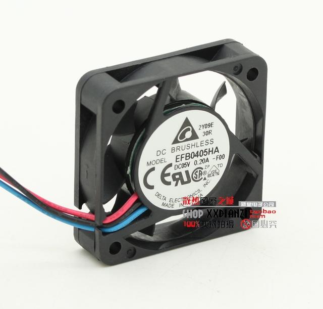 New original EFB0405HA 4010 5 V 0.20A 4 cm três velocidade do ventilador de refrigeração do fio