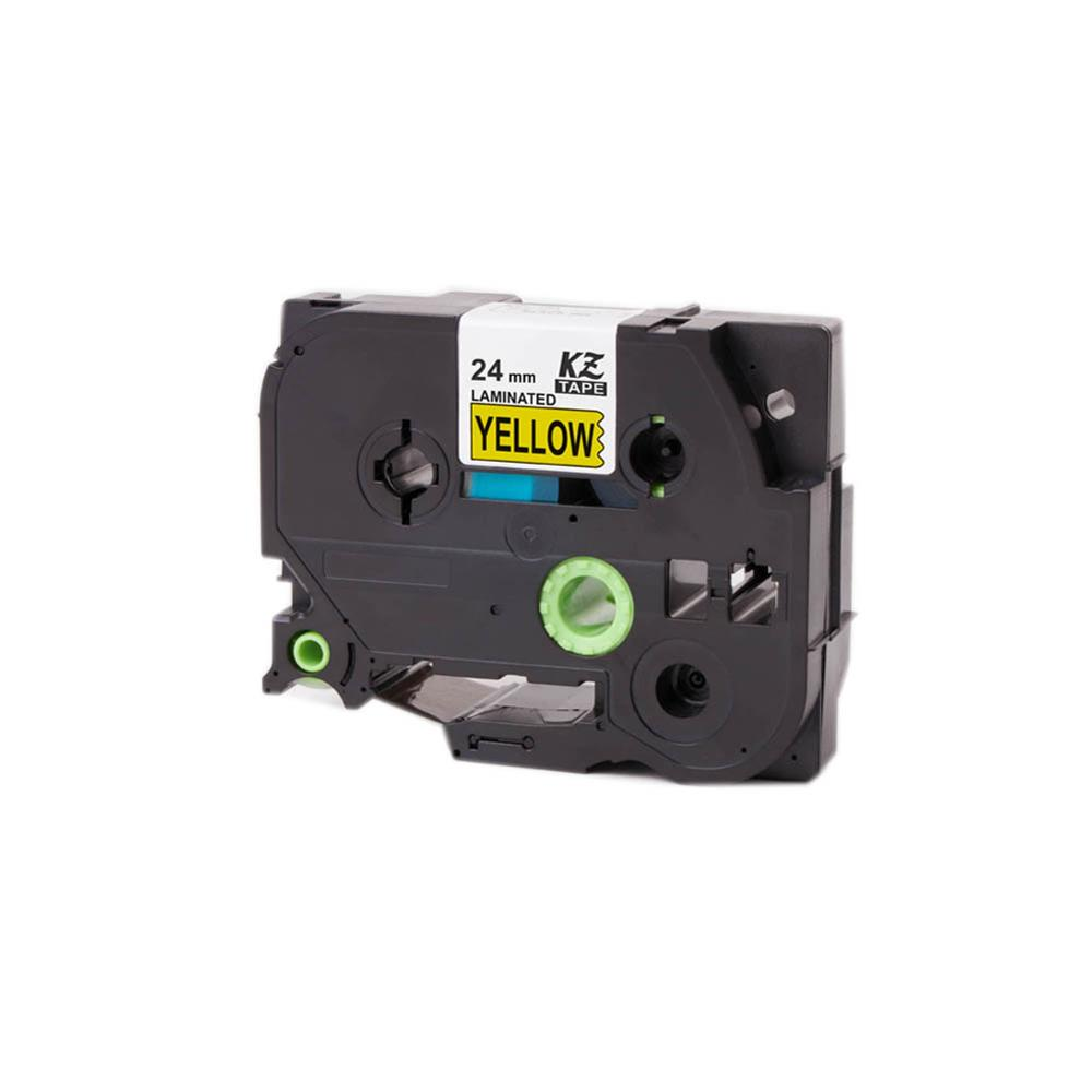 Compatible TZ-651//TZe-651 Black on Yellow Label Tape 24mm x 8m for Brother P-Touch Label Printing Machines