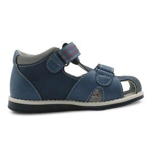 Image 2 - Apakowa novo verão crianças sapatos marca fechado toe da criança meninos sandálias ortopédico esporte couro do plutônio do bebê meninos sandálias sapatos