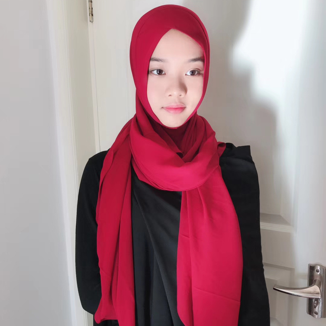 How to hijab wear with headband rare photo