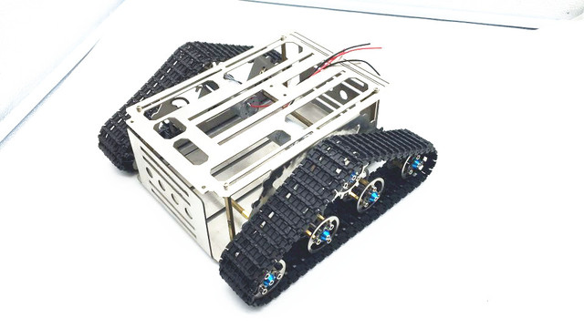 Tracked vehicle Metal robot Tank chassis Track Caterpillar car frame ...