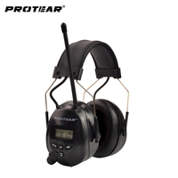 NRR 25dB Electronic Hearing Protector AM FM Radio Ear Muff Electronic Ear Protection For Shooting Electronic