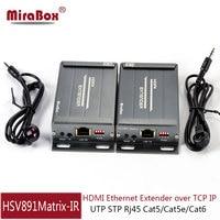 MiraBox Matrix HDMI Extender Support IR Control 1080p 100m Via Cat5 Cat6 Rj45 IP TCP HDMI Ethernet Adapter