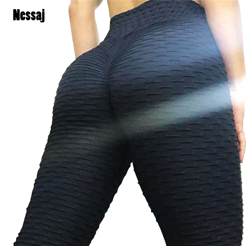 Women High Waist Leggins Sexy Hip Push Up   Leggings   Workout Clothing Solid Breathable Classic Long Trousers Fitness   Leggings