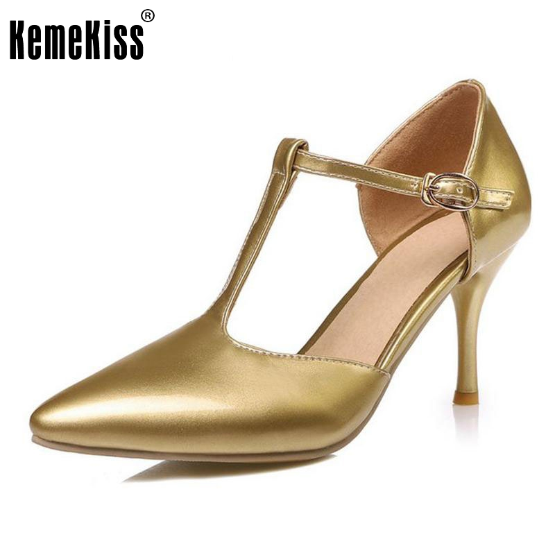 size 30-48 ladies high heel patent leather sandals pointed toe sexy wedding women ankle strap heeled footwear heels shoes P23491  european style pointed toe high heels sandals ladies party shoes 2017 sexy pointed toe chunky women ankle strap gladiator sandal