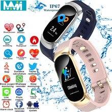 QW16 Smart Bracelet Watch Men Women Heart Rate Monitor Waterproof Fitness Tracker Bluetooth Sport  smart watch PK mi band 4