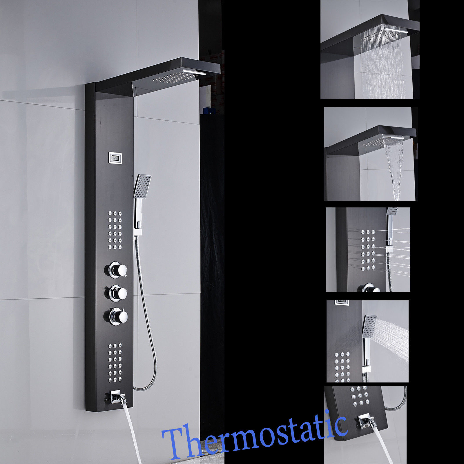 Thermostatic Shower Tower Shower Column Panel Faucet Body Jets ...