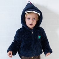 Yingzifang 2017 Winter Baby Boys Girls Cotton Cute Dragon Hooded Coat Casual Hooded Kids Jacket Children