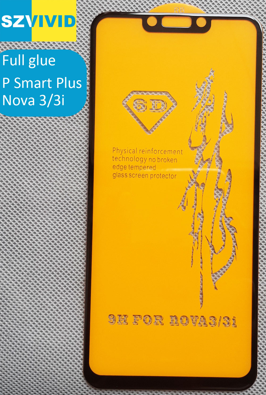 Full Screen Panel Kleber Gehärtetem Glas Für Huawei P Smart Plus Nova 3 3i 2.5D Gebogene abgerundete oleophobe Hohe qualität