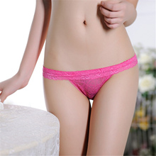 Seamless Solid Color Hollow Out Underwear for Women