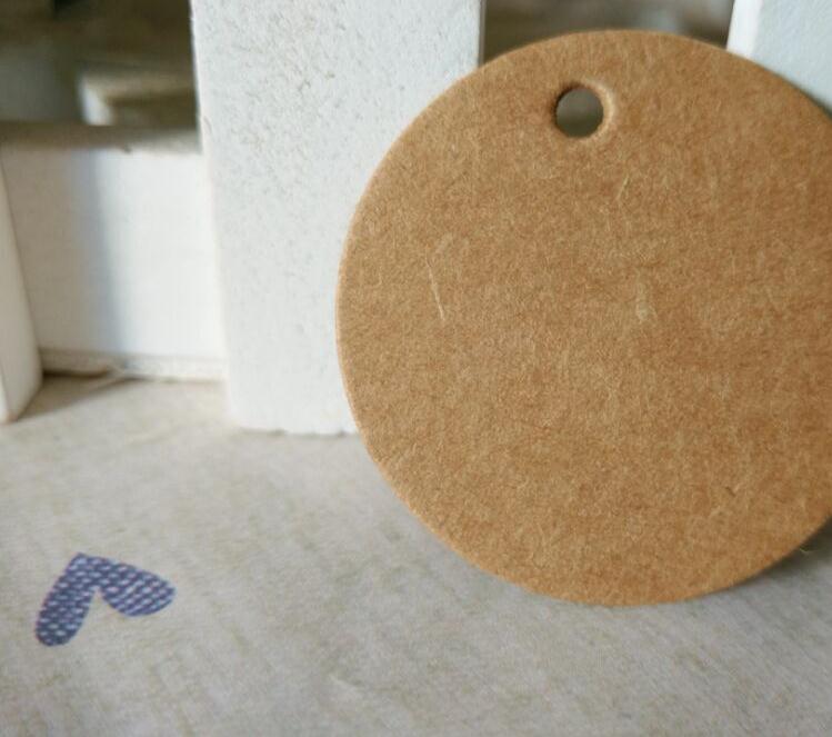 100pcs lot Brown Kraft Paper Tags DIY Round font b Food b font Label Wedding Gift