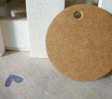 100pcs/lot Brown Kraft Paper Tags DIY Round Food Label Wedding Gift Decorating Tag Party Supplies 3.5*3.5cm
