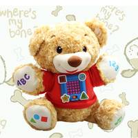 Top Kawaii Teddy Bear Baby Education Musical Toys Baby Mobile Musical Cirb Stuffed Kid Toys Plush
