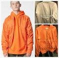 Высочайшее Качество Страх Божий Молнии Задний Карман MA1 Бомбардировщик Куртка Мужская Военный Стиль Orange/Silver Grey Ватные Пилот пальто