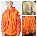 Top Quality Fear Of God Zippered Back Pocket MA1 Bomber Jacket Mens Military Style Orange/Silver Grey Quilted Pilot Coats