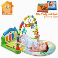 Minitudou Baby Activity Play Mat Baby Gym Educational Fitness Frame Multi Bracket Piano Baby Toys Game