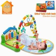 Minitudou новорожденных многофункциональный фортепиано фитнес стойку с музыка погремушка для деятельности игровой коврик детей развивающие игрушки