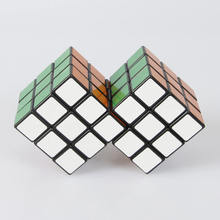 2 in 3 Conjoint Siamese Magic Cube 3x3x3 Speed Puzzle Cubes Special Educational Toys For Kids