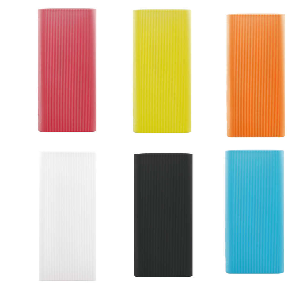غلاف حماية من السيليكون لهاتف شاومي باور بانك 3 الجيل 20000 مللي أمبير في الساعة PLM07ZM غلاف مطاطي حقائب لحمل البطارية الخارجية المحمولة