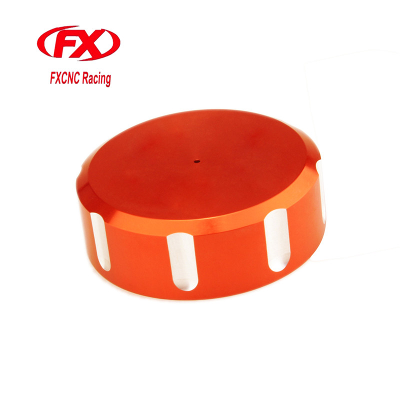 FX CNC Motorcycle Aluminum Rear Oil Reservoir Cap Cover Brake Fluid Oil Cover Fit For KTM 990 Super Duke 2005 - 2008 2007 2006 fx cnc motorcycle aluminum rear oil reservoir cap cover brake fluid oil cover fit for ktm rc8 1190 2008 2010 2009