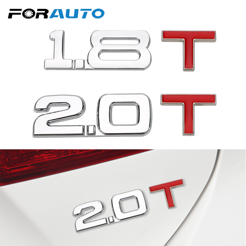 FORAUTO Car Sticker 3D Metal Reflective Windshield Cylinder Working Volume Logo Emblem Badge 1.8 T 2.0 T Auto Decal Universal