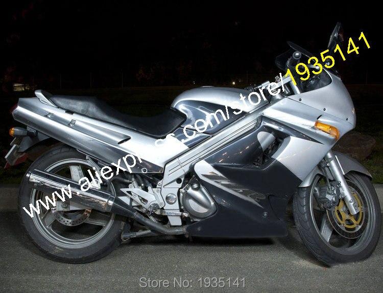 Offres spéciales, Kits de carénage pas cher pour Kawasaki ZZR 250 pièces ZZR-250 ZZR250 90-07 Kits de corps 1990-2007 argent noir carénage de moto
