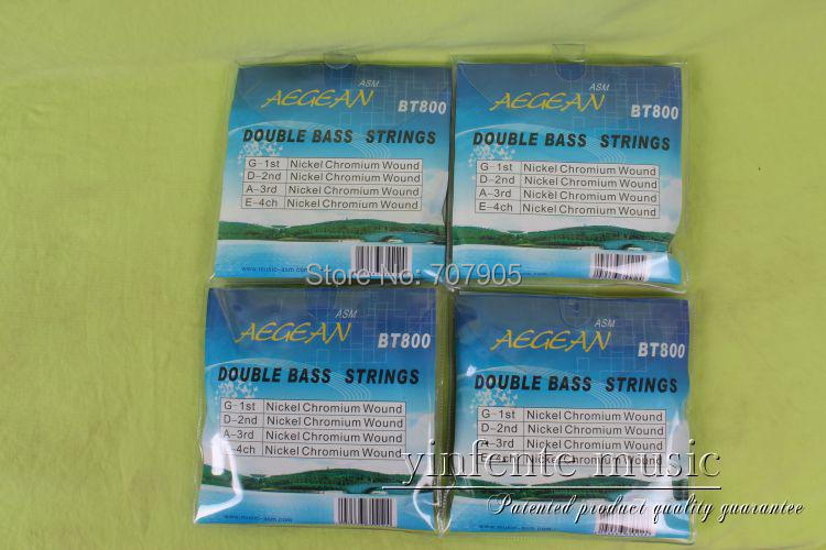 1 set Top model 4 string Double bass string strong Steel durable bass - 4