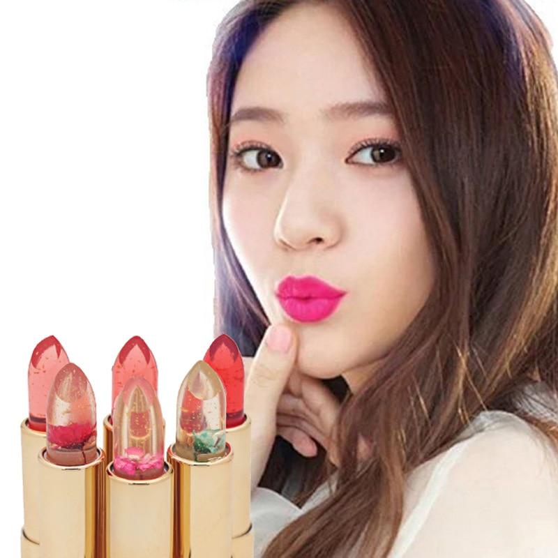 Moisturizing Lipsticks Flowers Discoloration Jelly Lip Stick Lip Balm Professional Lip Care colorful beauty