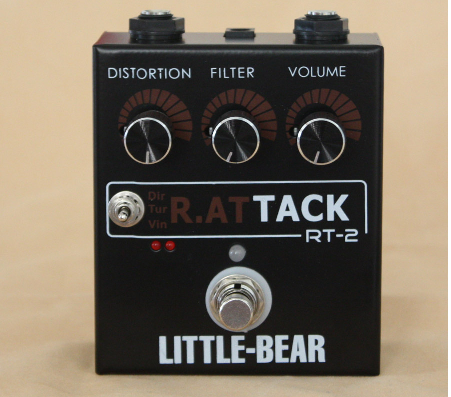 Three gear RAT Timbre Distortion Effector Electric Guitar Single Mouse LM308N