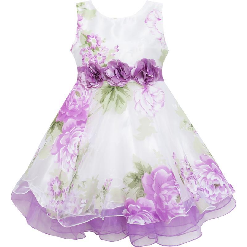 Τα κορίτσια φόρεμα νυφικό φόρεμα με - Παιδικά ενδύματα - Φωτογραφία 2