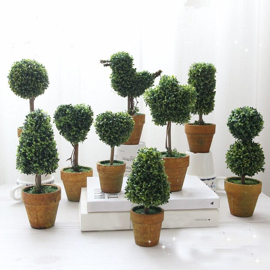 Home & Garden 16cm Flower Bonsai Miniature Landscape Simulates Potting Miniascape Of Fence For Home Office Fake Flower Decoration Festive & Party Supplies