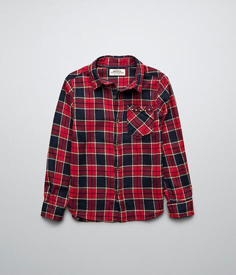 Новая Осень Детские Рубашки маленькие Мальчики Заклепки Карман Сетка с длинным рукавом оптом