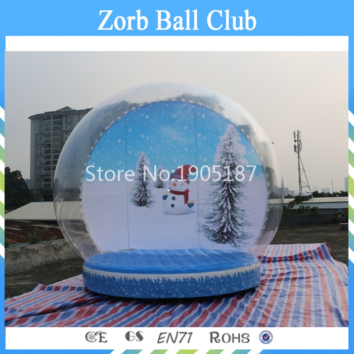 Free Shipping Diameter 4.5m Inflatable Snow Globe/Inflatable Snow Balloon/Christmas Show Ball Dome 3m diameter blow up snow ball inflatable snow globe inflatable human size snow globe balloons for chirstmas decoration