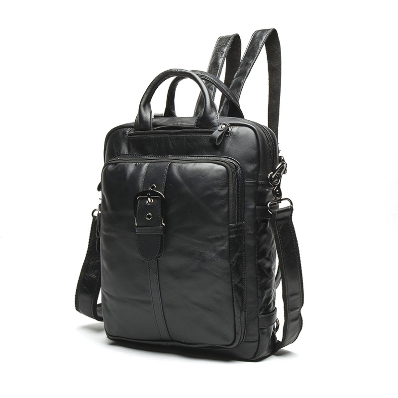 Beaumais Men Backpacks Genuine Leather Men Travel Bags Fashion Backpack For Male Casual Mochila Men's Business Backpacks DB6075 bokinslon fashion men backpacks pu leather college wind retro backpacks for man popular casual male backpacks bags