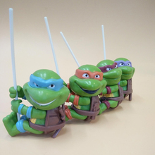Cartoon Series 4pcs/set Mini Terror Climbing Turtles Europe America Style Anime Action Figure Dolls Children Toys
